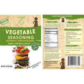 Iya Foods Llc Vegetable Herbal African Seasoning (NO MSG) â 2 oz