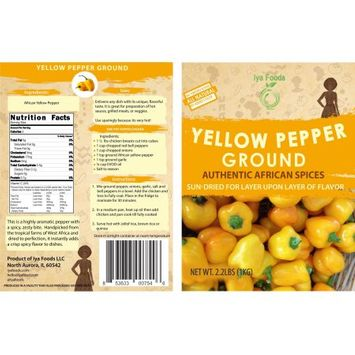 Iya Foods Llc African Yellow Pepper â 2.2LBS