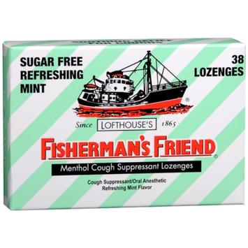 Fisherman's Friend Sugar Free Menthol Cough Suppressant Lozenges, Sugar Free Mint