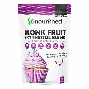 Powdered Monk Fruit Sweetener with Erythritol Confectioners (2.5 lb / 40 oz) Perfect for Diabetics & Low Carb Dieters - 1:1 Sugar Replacement - No Calorie Sweetener, Non-GMO, Natural Sugar Substitute