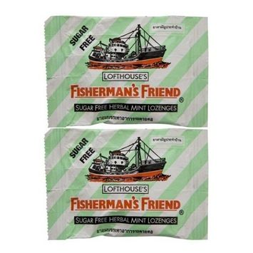 Fisherman's Friend Herbal Mint Fravour Lozenges Sugar Free Candy 25g. (Lot 2 packs)