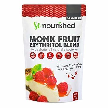 Granular Monk Fruit Sweetener with Erythritol (2.5 lb / 40 oz) - Perfect for Diabetics and Low Carb Dieters - 1:1 Sugar Replacement - No Calorie Sweetener, Non-GMO, Natural Sugar Substitute
