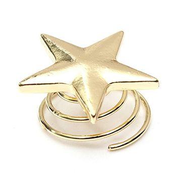 5 Pcs 2*2cm Gold Star Design Bangs Mini Turn Spring Clip Hair Claw Clip Hair Pin Accessories for Girl Women Baby