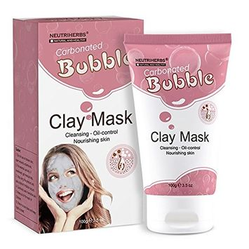 Carbonated Bubble Volcanic Clay Facial Mask for Moisturizing Oil-Control Deep Cleansing Beauty Skin Care Mask, Skin Nourishing Bubbling Clay Mask by Neutriherbs (100g)