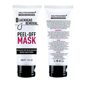 Neutriherbs Black Head Remover Mask, Deep Cleansing Purifying Peel-Off Facial Mask