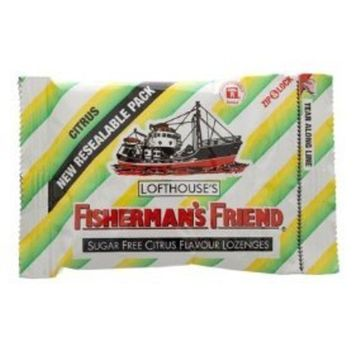 Fisherman's Friend Lozenges Sugar Free Citrus Candy 25g (Pack of 3)