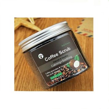 One & Only 100% Natural Arabica Coffee Scrub 12 oz. with Organic Coffee, Coconut and Shea Butter (Pack of 2)