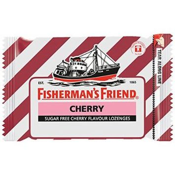 Fisherman's Friend Sugar Free Refreshing Cherry Flavor Cough Lozenges, 25g pack, (Pack of 12)