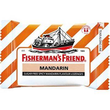 Fisherman's Friend Sugar Free Refreshing Spicy Mandarin Flavor Cough Lozenges, 25g pack, (Pack of 12)