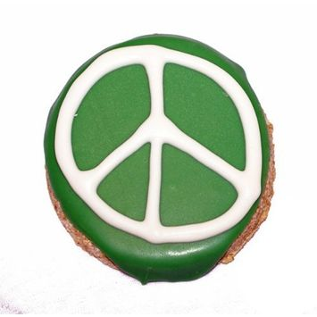 Pawsitively Gourmet Green Peace Sign Cookies for Dogs