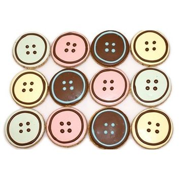 Pawsitively Gourmet Cute-as-a-Button Cookies Dog Treats Sweet Potato Receipe (Pack of 20)