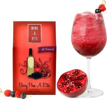 Wine-a Rita Margarita Mix - Delicious Frozen Drinks Made with Wine - Berry Pom-A-Rita - By Wine-A-Rita