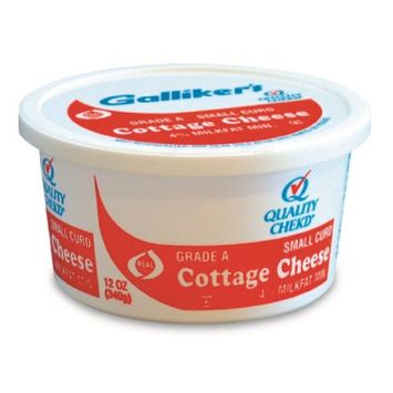 Galliker Dairy Co. Galliker's Small Curd Cottage Cheese, 12 oz