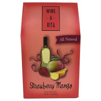 Wine-A-Rita Strawberry Mango Frozen Cocktail Mix, 12 Ounce Pack, Makes 72 Ounces
