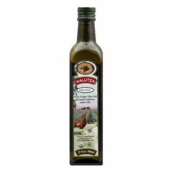 Halutza Olive Oil Premium Organic Extra Virgin, 17 FO (Pack of 6)
