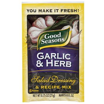 Good Seasons Garlic & Herb Salad Dressing & Recipe Mix, 0.75 oz, (Pack of 24)
