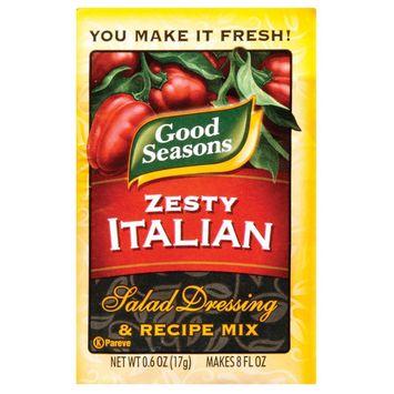Good Seasons Zesty Italian Dressing and Recipe Mix .6 oz