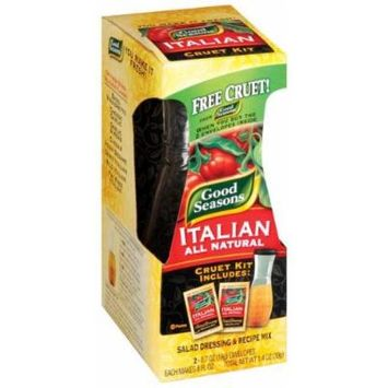 Good Seasons Italian All Natural Salad Dressing Mix and Cruet Kit - 12 Pack