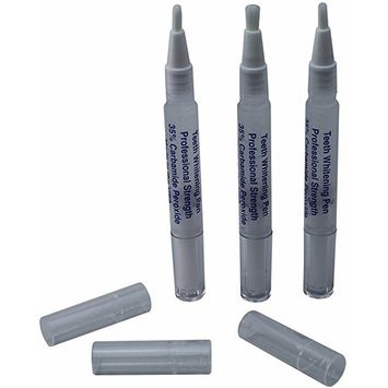 3 Pack 3ml Professional Teeth Whitening Pens - 35% Carbamide Peroxide Dental Strength - Fast Results - Up To 80+ Whitening Treatments - Made in USA - Highest Quality