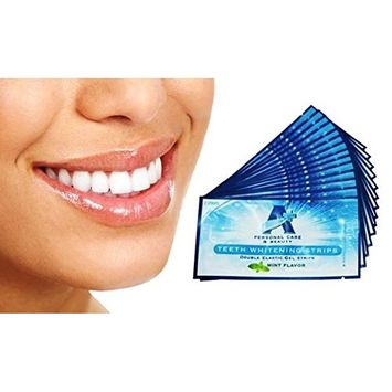 Sparkling White Professional Strength 6%HP Teeth Whitening Strips - Elastic Strips plus Advanced Whitening Formula = Great Results! 28 Strips (14 Upper and 14 Lower)...