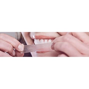 Sparkling White Smiles Premium Teeth Whitening Strips 30 Minute Results - Professional and Fast Teeth Whitening - Includes 28 Strips - 14 Upper and 14 Lower