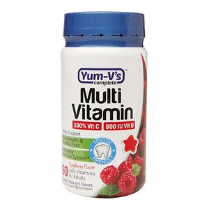 Yum-V's Complete Multivitamin Adult Jellies, Raspberry, 60 ea
