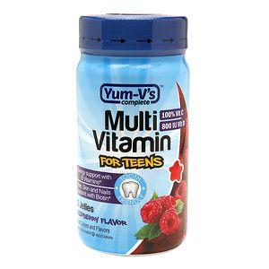 Yum-V's Complete Multivitamin Jellies for Teens, Raspberry, 60 ea