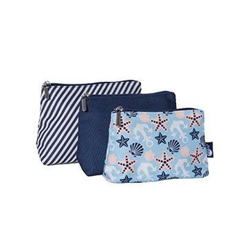 Violife Travel Bags Seashell Blue 3-Piece, Sea, 9 Ounce