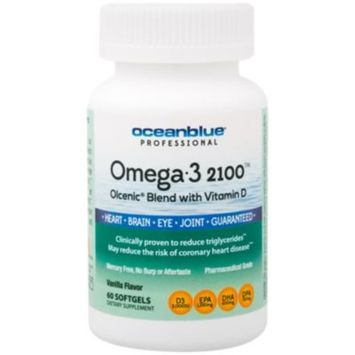 Omega 3 2100 Olcenic Blend with Vitamin D - VANILLA (60 Softgels) by Ocean Blue at the Vitamin Shoppe