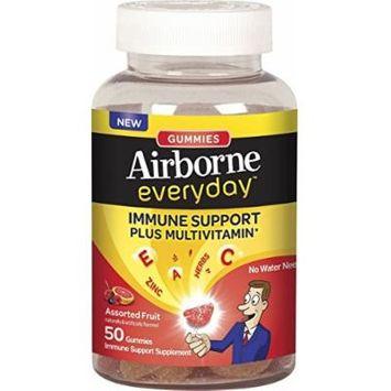 Airborne Everyday Immune Support Supplement Plus Multivitamin Gummies, 50 Count (2 Pack)