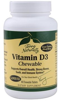 Europharma Terry Naturally EuroPharma - Terry Naturally Vitamin D3 Chewable 5000 IU - 90 Chewable Tablets