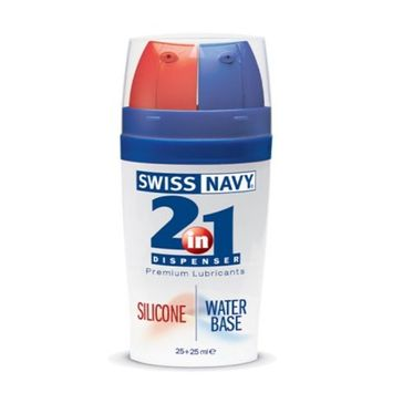 MD Science Lab Swiss Navy 2in1 Silicone/water Base 25 Ml Of Each