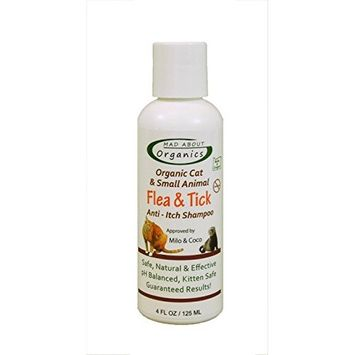 Mad About Organics All Natural Cat/Small Animal Flea & Tick Anti-Itch Shampoo 4oz