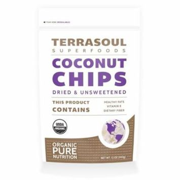 Terrasoul Superfoods Desiccated Coconut Chips, 12.0 Oz