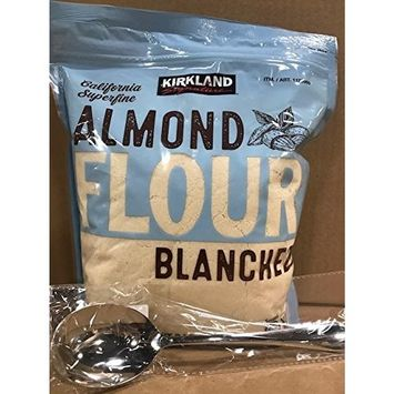 Kirkland Signature California Superfine Almond Flour 3LB With FREE Stainless Steel Spoon By KC Commerce