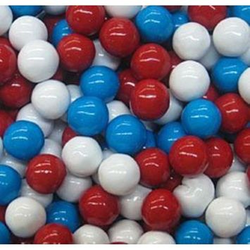 Sixlets - Red, White and Blue-2 1/2 lbs.