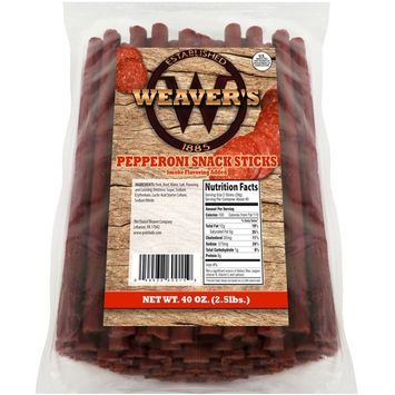 Weaver's Pepperoni Snack Sticks (80 pepperoni flavored 6.5