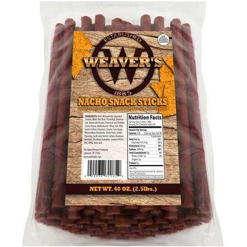Weaver's Nacho Snack Sticks (80 nacho flavored 6.5