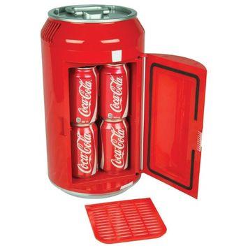 Koolatron CC06-G Mini Coca Cola Can Cooler with Sliding shelf and Self-locking recessed door