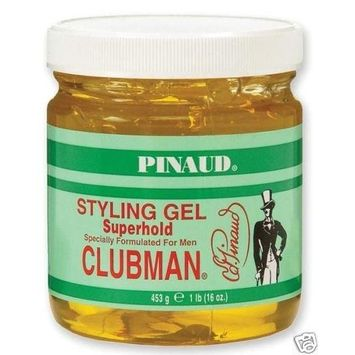 Pinaud Clubman hair styling gel, super hold - 16 oz by Clubman