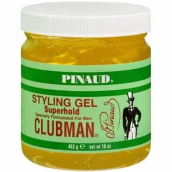 2 Pack - Pinaud Clubman Styling Gel Super Hold 16 oz