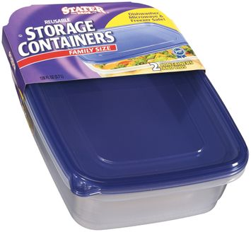 Stater bros Family Size Reusable W/Lids