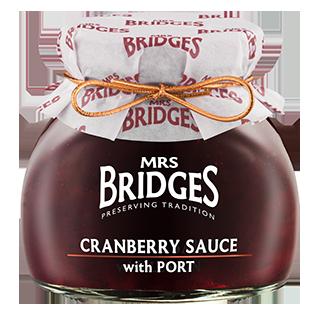 Mrs Bridges Cranberry Sauce with Port
