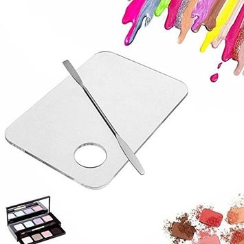 Msmask 1+1 Stainless Steel Rod Makeup Face Palette Spatula Foundation Mixing Tool Nail