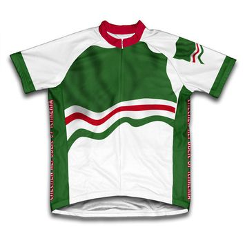 Chechen Republic of Ichkeria Flag Short Sleeve Cycling Jersey for Women - Size XS