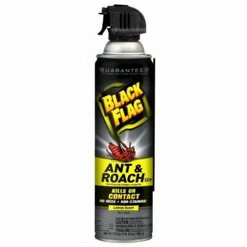 Black Flag 11068 Ant and Roach Killer Crack and Crevice Aerosol, Lemon Scent, 17.5-Ounce