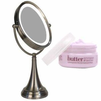 Zadro LEDOVLV410 LED Oval Vanity Mirror and Cuccio Lemongrass & Lavendar Body Butter