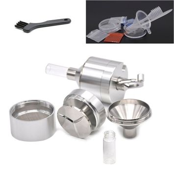 Herb Crusher To Grind Powder 44MM (1.7 inch) Portable Mini Grinder With Accessories Aluminum Travel Tobacco Grinder