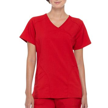 Scrubstar - Scrubstar Women's Premium Rayon Mock Wrap Scrub Top [name: actual_color value: actual_color-chilired]