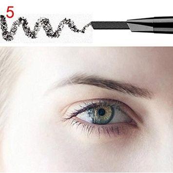 Eyebrow Pen ,Vinjeely Waterproof Eye Brow Eyeliner Pencil With Brush Makeup Cosmetic Tool (E)